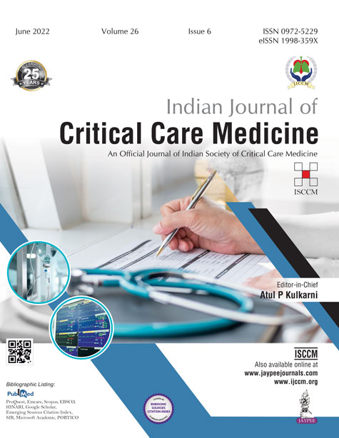 JaypeeDigital | Indian Journal of Critical Care Medicine