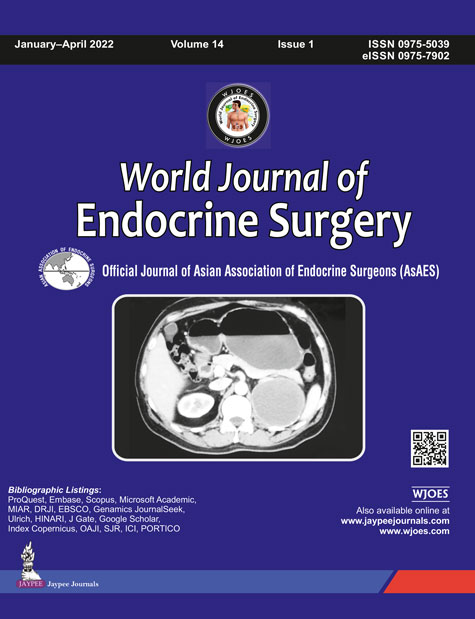 JaypeeDigital | World Journal of Endocrine Surgery