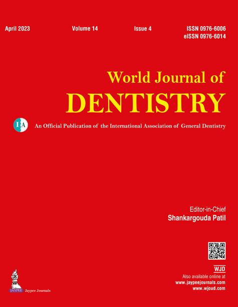 JaypeeDigital | World Journal of Dentistry